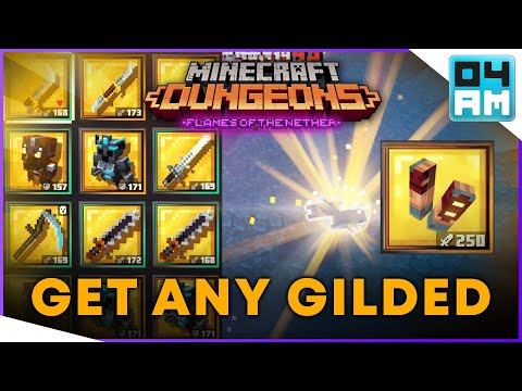 (New) Get any gilded unique - ultimate gilded unique farming guide in minecraft dungeons