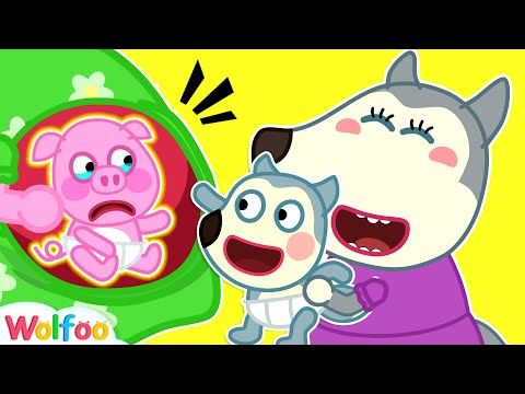 (Ver Filmes) Baby wolfoo vs baby piggy - the olden days - funny stories | wolfoo family kids cartoon