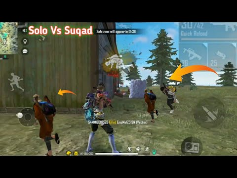 (New) Not a human 🌍solovssuqad😍free fire highlights