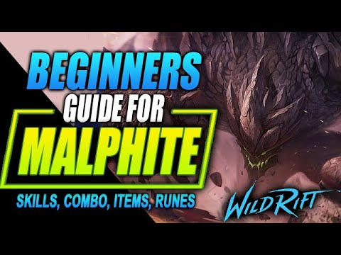 (New) Wild rift malphite guide | tutorial for skill combo, items and gameplay