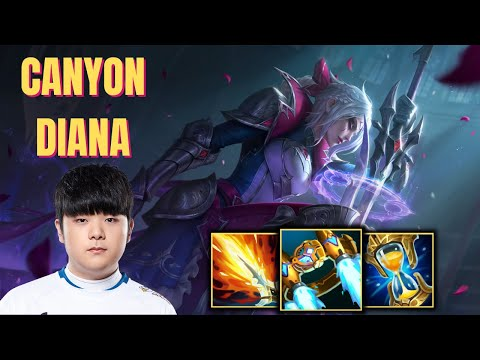 (New) Dwg canyon plays diana vs hecarim jungle - patch 11.8
