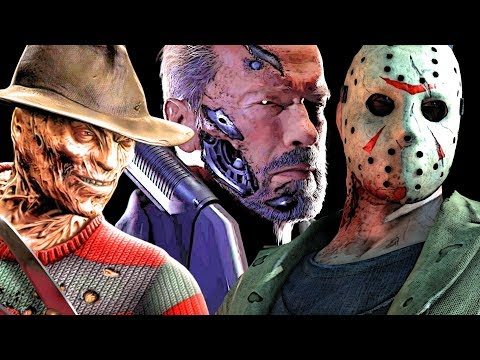 (New) Mk11 all guest character endings (the terminator, alien, jason, predator, kratos, freddy krueger)
