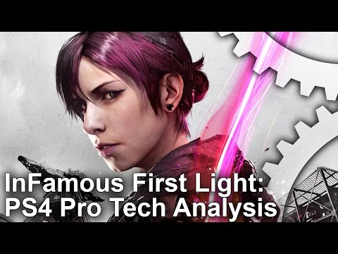 (New) [4k] infamous first light - ps4 pro upgrade analysed!