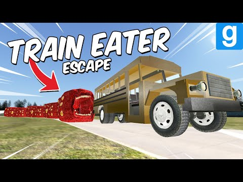 (New) Train eater vs destructible cars! (garrys mod) new leovincible monster