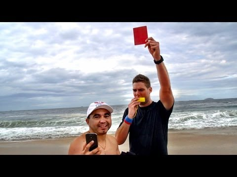 (New) Red cards in rio prank | dude perfect