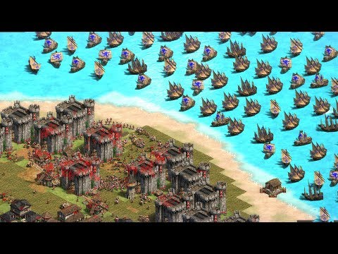 (New) Great naval invasion - age of empires 2: definitive edition