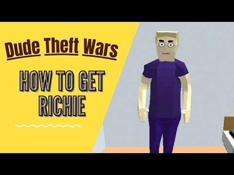 (New) How to get richie + cheat codes | dude theft wars