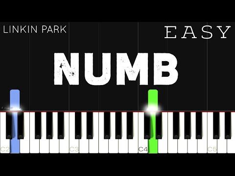 (New) Linkin park - numb | easy piano tutorial