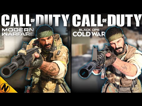 (New) Call of duty: black ops cold war vs modern warfare | direct comparison
