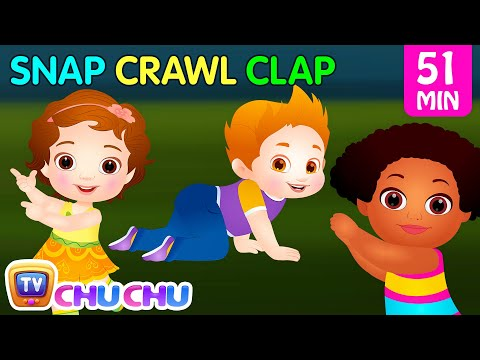 (VFHD Online) Snap snap actions song | original educational learning songs e nursery rhymes for kids | chuchu tv