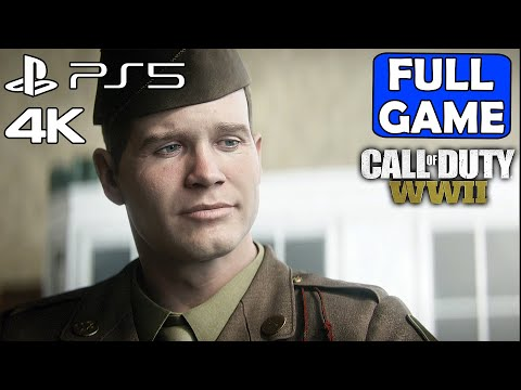 (New) Call of duty ww2 [ps5 4k 60fps] gameplay walkthrough part 1 campaign full game - no commentary