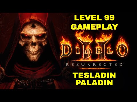 (New) Diablo 2 resurrected - level 99 paladin tesladin - andarial hell difficulty - 3440x1440