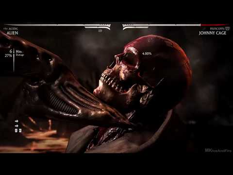 (New) Mortal kombat x alien performs all character x rays gameplay