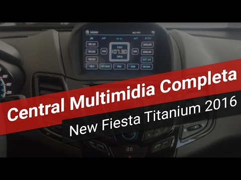 (HD) New fiesta titanium 2016 - central multimídia 100% compatível