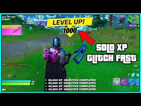 (New) *solo xp glitch* how to level up fast in fortnite season 5! (new unlimited xp) *chapter 2*