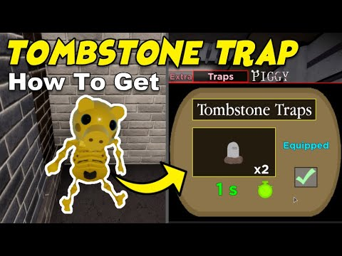 (New) How to unlock tombstone secret traps (piggy spooky hunt)