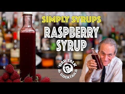 (HD) The best raspberry syrup for cocktails and how to make it