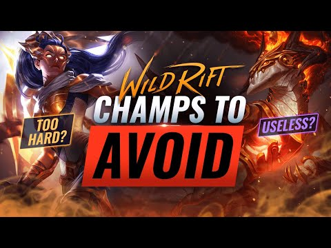 (New) 6 champions to avoid in wild rift (lol mobile)