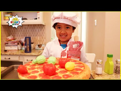 (New) Ryan pretend play cooking toys food with kitchen play set 1hr video!!!