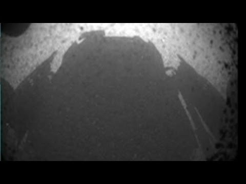 (HD) Nasa mars rover landing: curiosity lands, beams back pictures of mars surface