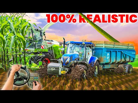 (New) Full realistic in extreme conditions (silage) steering wheel view | farming simulator 19