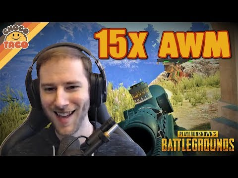(New) Chocotaco finds an awm for his 15x ft. hambinooo - pubg gameplay