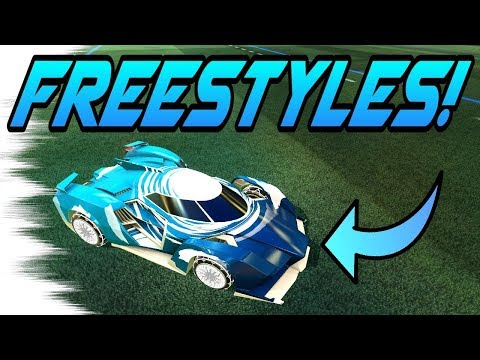 (New) Rocket league goals: freestyles with the samurai car! (new triumph crate item highlights)