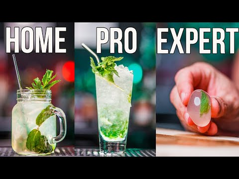 (HD) How to make a mojito cocktail home | pro | expert