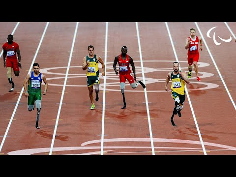 (New) Athletics - mens 200m - t44 final - london 2012 paralympic games