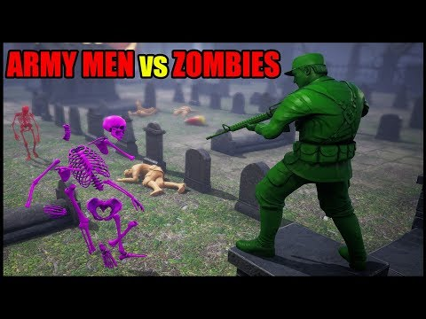 (New) Army men fight skeleton zombies! - mean greens plastic warfare