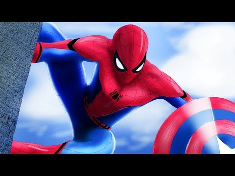 (New) Spidermans homecoming animation - avengers movie for kids (english - disney infinity)