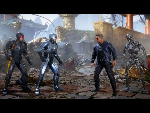 (New) Mortal kombat 11 robocop vs terminator e endoskeleton terminator gameplay mk11 aftermath