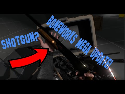 (New) Boneworks mega update! (unknown ammo, new pistol, new guns cars and vehicles)