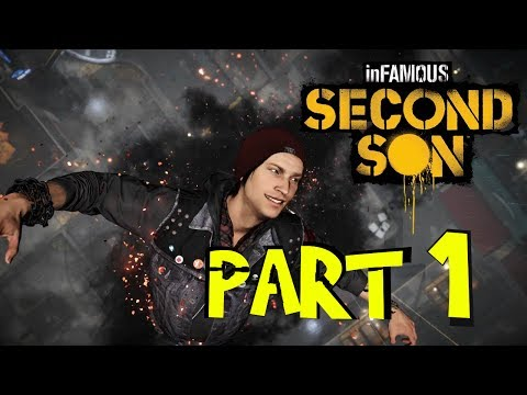 (New) Infamous second son walkthrough part 1 - evil good hybrid walkthrough! ps4 1080p no commentary