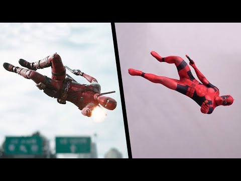 (Ver Filmes) Stunts from deadpool in real life (parkour, marvel)