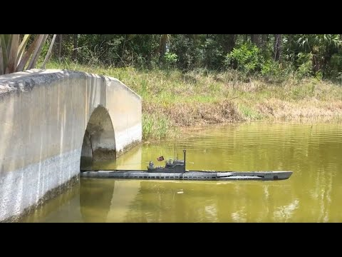 (HD) German type ixd rc submarine in 1:48 scale