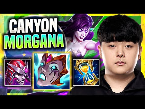 (New) Canyon is so clean with morgana! ( msi bootcamp ) - dk canyon plays morgana jungle vs nidalee!