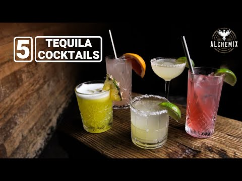 (HD) 5 tequila cocktails | silver tequila | alchemix