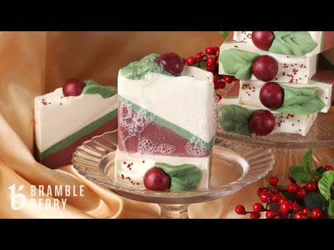 (HD) Anne-marie makes cranberry cocktail soap - holiday gala collection | bramble berry