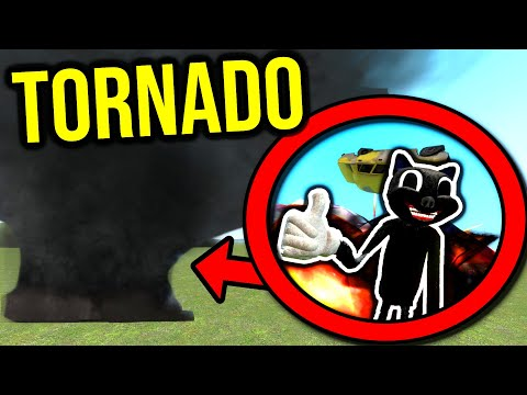 (New) Cartoon cat goes into tornado!! (gmod nextbot)