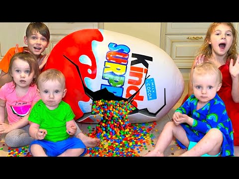 (New) Five kids chocolate surprise eggs + more childrens videos