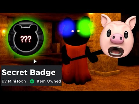 (New) How to get piggy secret maple donut badge + ready player two crown of madness!! | roblox