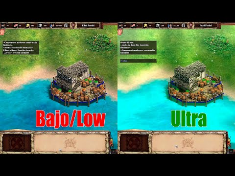 (New) Age of empires 2 definitive edition ultra vs low graphics comparison full hd
