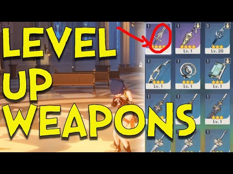(New) Genshin impact : how to level up, refine, and ascend weapons in genshin impact