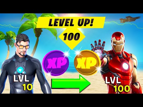 (New) How to level up fast to level 100! xp glitch, all xp coins location e tips (fortnite season 4)