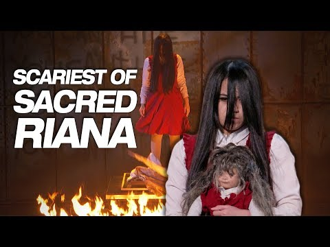 (HD) Dont watch sacred riana if youre scared of the dark - americas got talent 2018