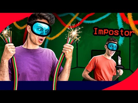 (HD) Jogamos among us na vida real! - (impostor iq 999)