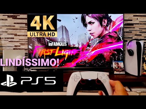 (New) Infamous first light direto do ps5 - 4k hdr 60 fps