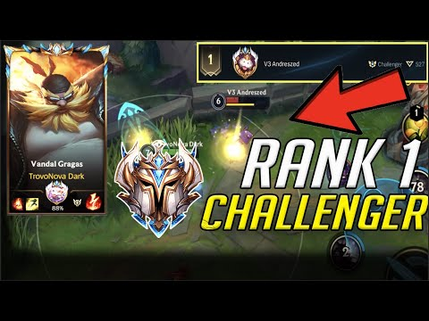 (VFHD Online) Wild rift rank 1 challenger player versus top 1 gragas | challenger gameplay