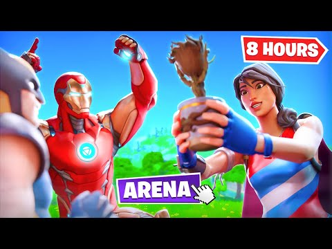 (Ver Filmes) Playing arena for 8 hours straight in season 4! (fortnite battle royale)
